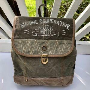 NWT Myra Backpack Marine Coop Vintage theme bag